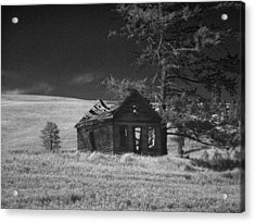 Haunted House Acrylic Print by Anne Mott