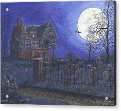 Haunted House Acrylic Print by Lori  Theim-Busch