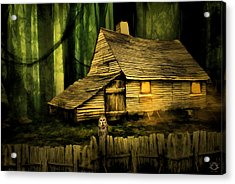 Haunted Shack Acrylic Print by Lourry Legarde