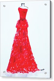 Haute Couture Acrylic Print by Trilby Cole
