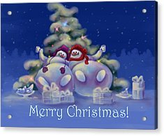 Have A Merry Christmas Acrylic Print by Anastasia Michaels