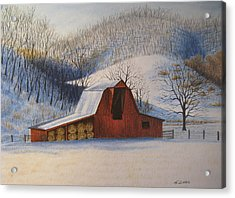 Hay's In Acrylic Print by James Clewell