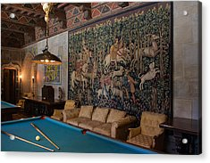 Hearst Castle's Game Room Art Acrylic Print by Heidi Smith