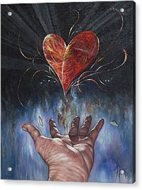 Heart And Soul Acrylic Print by Jan Camerone