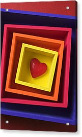 Heart In Boxes  Acrylic Print by Garry Gay