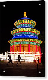 Heavenly Temple Acrylic Print by Semmick Photo