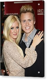 Heidi Montag, Spencer Pratt At In-store Acrylic Print by Everett