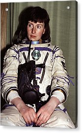 Helen Sharman, British Astronaut Acrylic Print by Ria Novosti