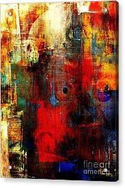 Help Acrylic Print by Fania Simon