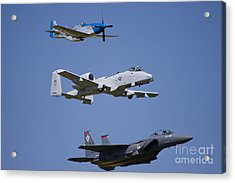 Heritage Flight Wings Over Whitman Acrylic Print by Linda Gardner-Goos