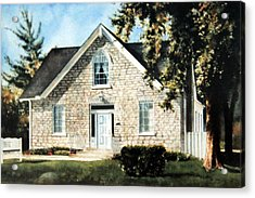 Heritage Home Portrait Acrylic Print by Hanne Lore Koehler
