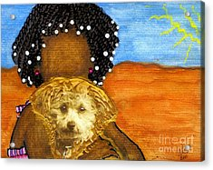 He's My Very Best Friend Acrylic Print by Angela L Walker