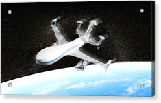 High Altitude Passenger Plane, Artwork Acrylic Print by Christian Darkin