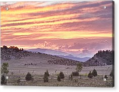 High Park Fire Larimer County Colorado At Sunset Acrylic Print by James BO  Insogna