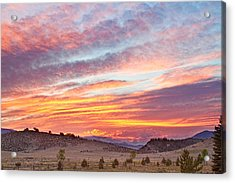 High Park Wildfire Sunset Sky Acrylic Print by James BO  Insogna