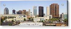 High Rise Buildings Of Downtown Phoenix Acrylic Print by Jeremy Woodhouse