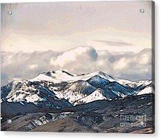 High Sierra Mountains Acrylic Print by Phyllis Kaltenbach
