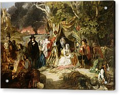 Highgate Fields During The Great Fire Of London In 1666 Acrylic Print by Edward Matthew Ward