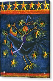 Hiho Mr. Crow Acrylic Print by Pat Olson