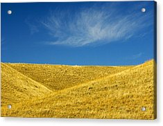 Hills And Clouds, Cypress Hills Acrylic Print by Mike Grandmailson