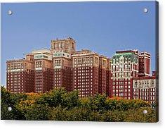 Hilton Chicago And Blackstone Hotel Acrylic Print by Christine Till