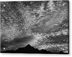 Himalayan Sky In Black And White Acrylic Print by Don Schwartz