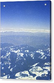 Himalayas Blue Acrylic Print by First Star Art