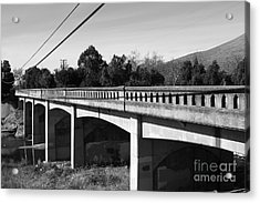 Historic Niles District In California Near Fremont . Bridge Into Niles District . 7d10596 . Black An Acrylic Print by Wingsdomain Art and Photography