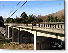 Historic Niles District In California Near Fremont . Bridge Into Niles District . 7d10596 Acrylic Print by Wingsdomain Art and Photography