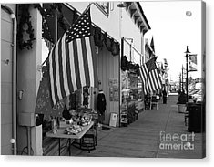 Historic Niles District In California Near Fremont . Main Street . Niles Boulevard . 7d10692 . Bw Acrylic Print by Wingsdomain Art and Photography