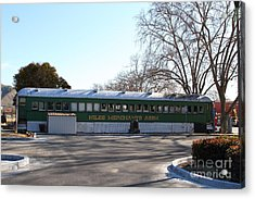 Historic Niles District In California Near Fremont . Niles Merchants Association Train Office . 7d10 Acrylic Print by Wingsdomain Art and Photography