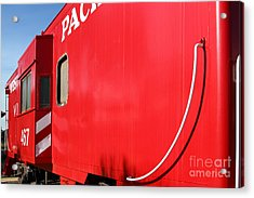 Historic Niles District In California Near Fremont . Western Pacific Caboose Train . 7d10724 Acrylic Print by Wingsdomain Art and Photography