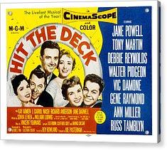 Hit The Deck, Ann Miller, Tony Martin Acrylic Print by Everett