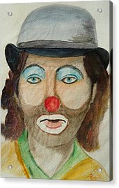 Hobo Clown Acrylic Print by Betty Pimm