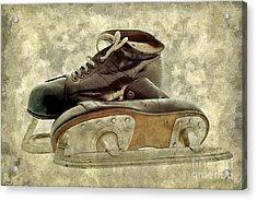 Hockey Boots Acrylic Print by Dariusz Gudowicz