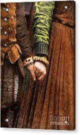 Holding Hands Acrylic Print by Jill Battaglia