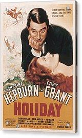 Holiday, Cary Grant, Katharine Hepburn Acrylic Print by Everett
