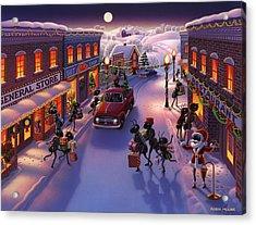 Holiday Shopper Ants Acrylic Print by Robin Moline