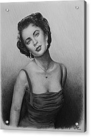 hollywood greats Elizabeth Taylor Acrylic Print by Andrew Read