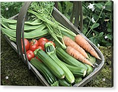 Home-grown Organic Vegetables Acrylic Print by Sheila Terry
