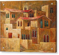 Homes Acrylic Print by Adeeb Atwan