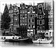 Homes Of Amsterdam Acrylic Print by Leslie Leda