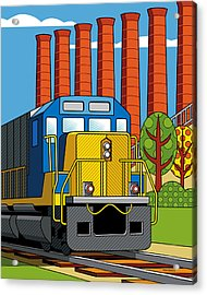 Homestead Stacks Acrylic Print by Ron Magnes