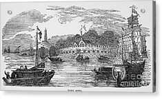 Hong Kong: Harbor, 1842 Acrylic Print by Granger