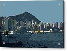 Hong Kong Island ... Acrylic Print by Juergen Weiss