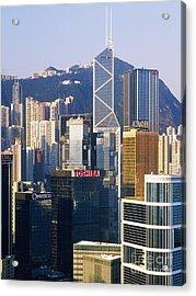 Hong Kong Skyline Looking Towards Victoria Peak Acrylic Print by Jeremy Woodhouse