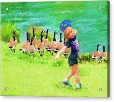 Honker Ballet Princess Acrylic Print by Cindy Wright
