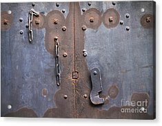 Hooked And Chained Acrylic Print by Dan Holm