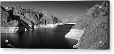 Hoover Dam Reservoir - Architecture On A Grand Scale Acrylic Print by Christine Till