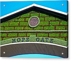 Hope Gate - Quebec City Acrylic Print by Juergen Weiss